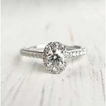 Preloved Tolkowsky Diamond Engagement Ring In White gold