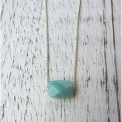Rectangular Amazonite Bead on Chain