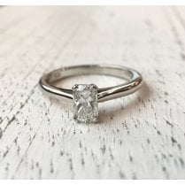 Rectangular Diamond Solitaire Ring