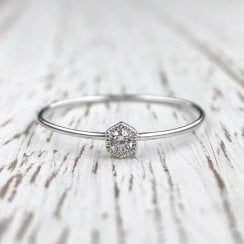 Dainty Diamond Solitaire Ring