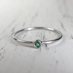 Richard Woo Delicate Emerald Stacking Ring