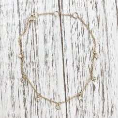 Diamond Charms Bracelet in Yellow Gold