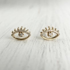 Richard Woo Diamond Eye Studs