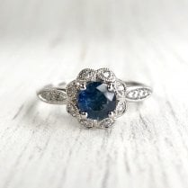 Diamond Floral Cluster Engagement Ring