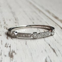 Diamond Geometric Band in White Gold