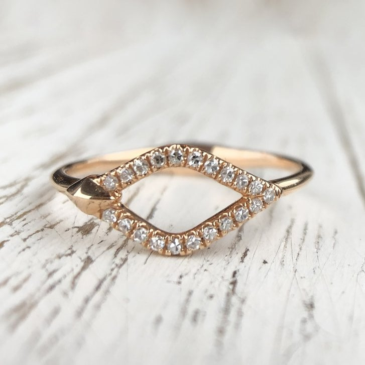 Richard Woo Diamond Kite Ring in Rose Gold