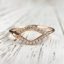 Diamond Kite Ring in Rose Gold