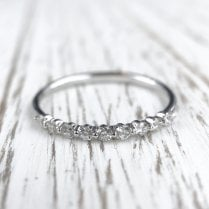 Floating Diamonds Half Eternity Band in White Gold