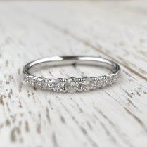 Graduated Diamond Half Eternity Band