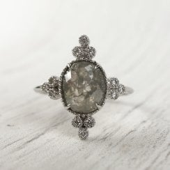 Richard Woo Grey Rose Cut Diamond Compass RIng