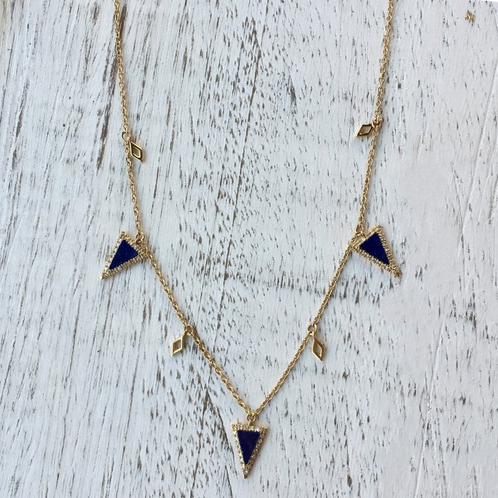 Richard Woo Lapis Lazuli Triangles Necklace
