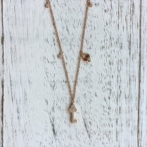 Mini Diamond Key and Heart Locket Necklace in Rose Gold