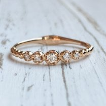 Richard Woo Rose Gold and Diamond Beaded Eternity Ring
