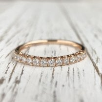 Rose Gold Diamond half Eternity Band