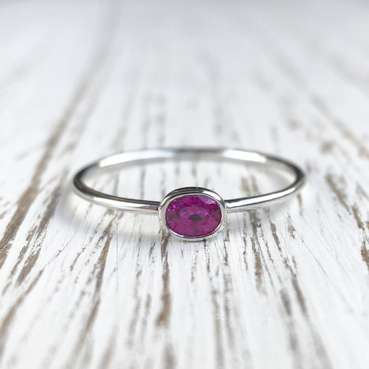 Richard Woo Ruby Skinny Stacking Ring