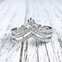 Richard Woo V-shape Diamond Bands
