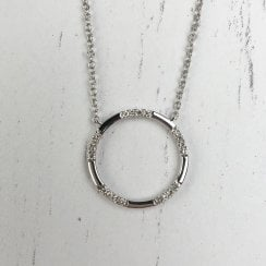Richard Woo white gold diamond circle necklace