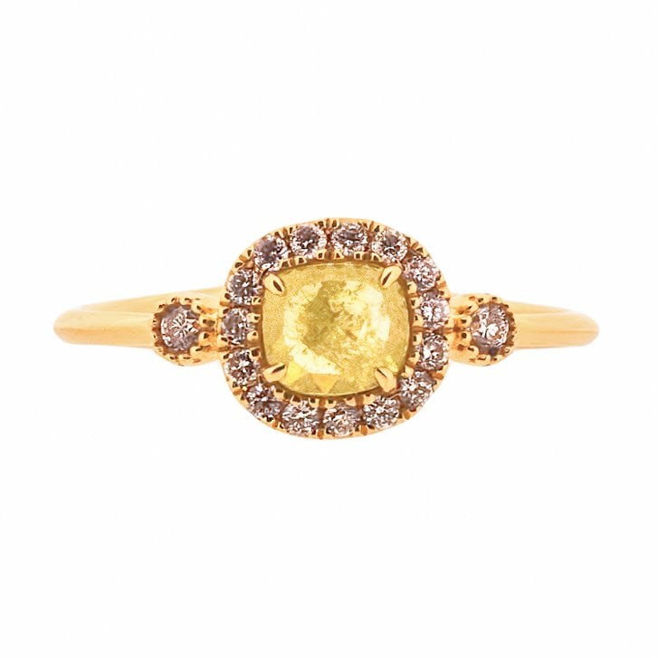Richard Woo Rose Cut Diamond Halo Ring