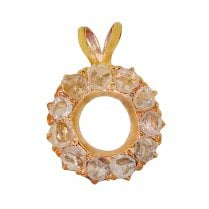 Rose Cut Diamond Wreath Pendant