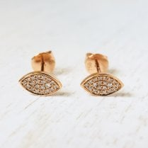 Rose Gold Diamond Eye Studs