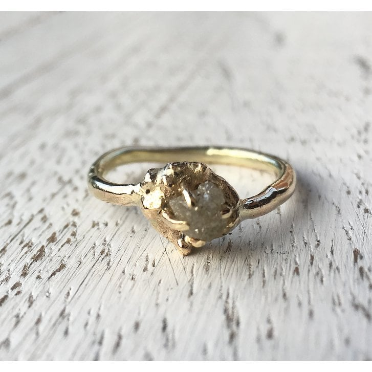 Lila's Rough Diamond Yellow Gold Ring