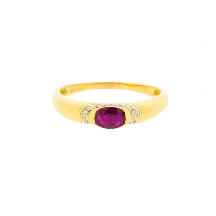 Ruby Band in 18ct yellow Gold
