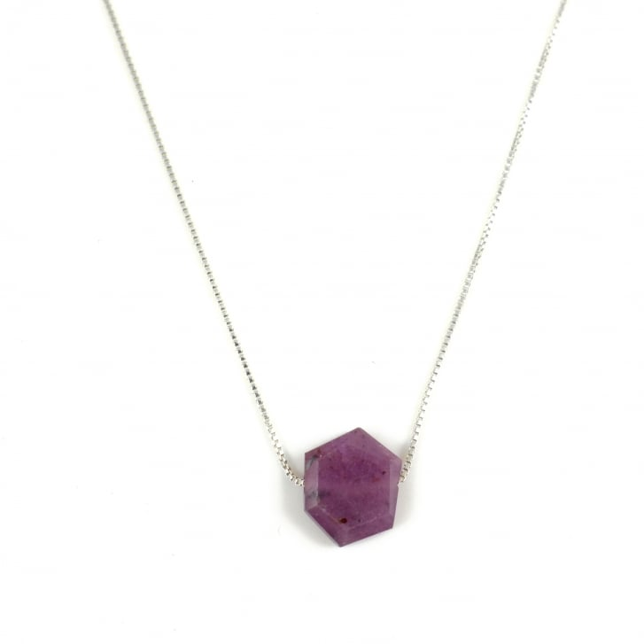 Karen Morrison Ruby Hexagon Necklace