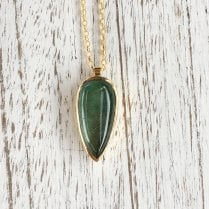 Large Gold Plated Teardrop Necklace