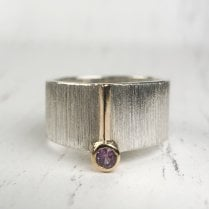 Pompeii Wide Band with Sapphire