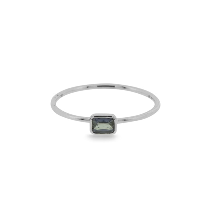 Richard Woo Sapphire Baguette on single Wire Ring