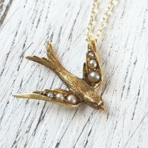 Seed Pearl Swallow Necklace