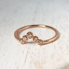 Shaped Diamond Band in Rose Gold