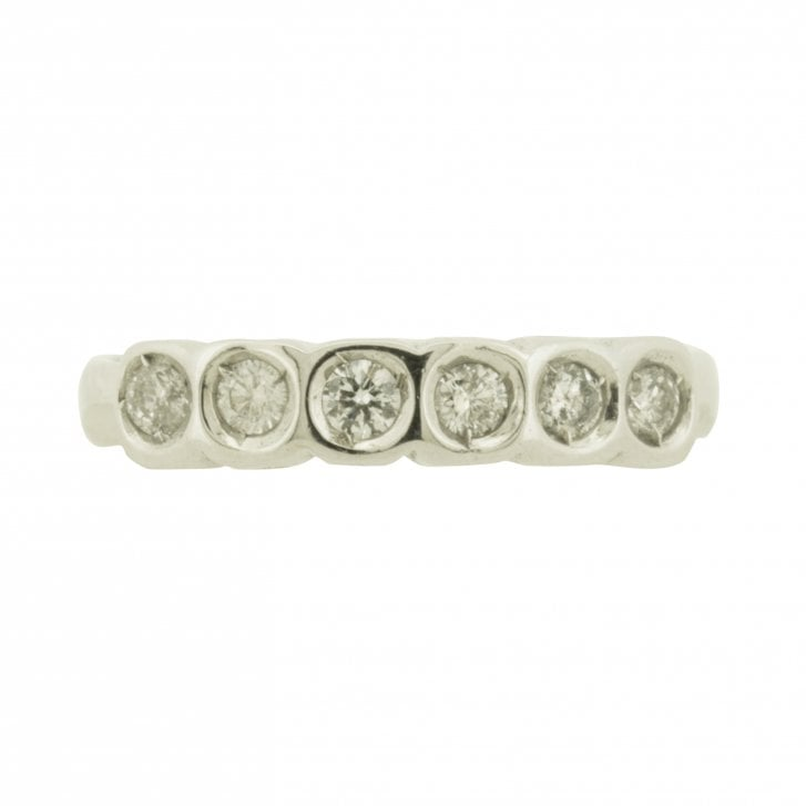 Six Diamond Bezel Set Eternity Band