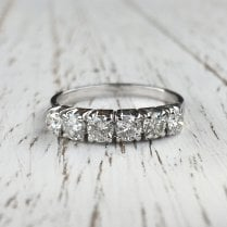 Six Diamonds Stacking Ring
