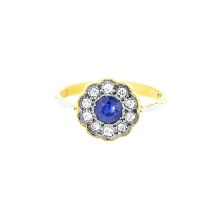 description and cluster princess in featuring diamond cut engagement ring tdw gold flat illusion white jewelry blue