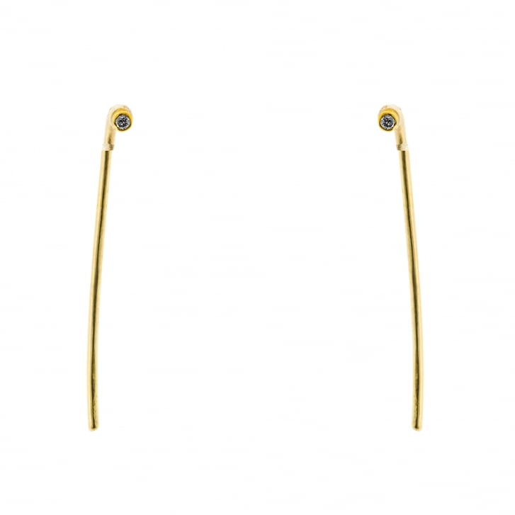 Rybarova Stud hook earrings with Champagne diamonds