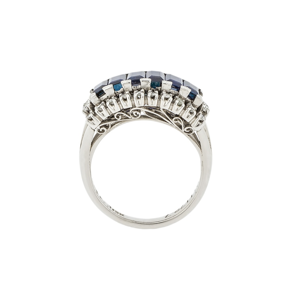 Sapphire And Diamond Cluster Ring Uk