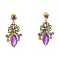 Suffragette Style Drop Earrings