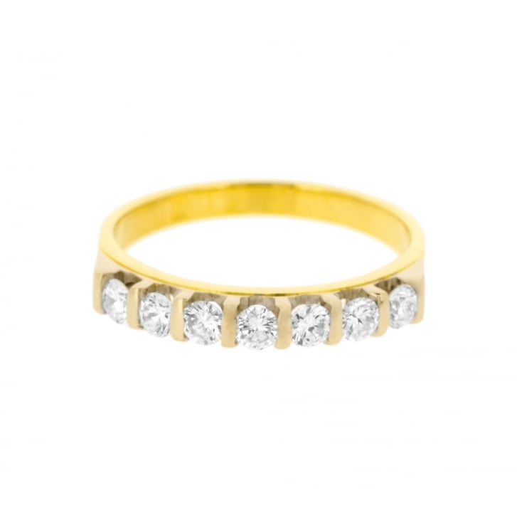 Tension Set Style Diamond Hald Eternity Band in 18ct Gold
