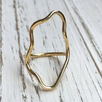 Tilly Sudsbury Open Feature Pinky Ring in Gold Plated Silver