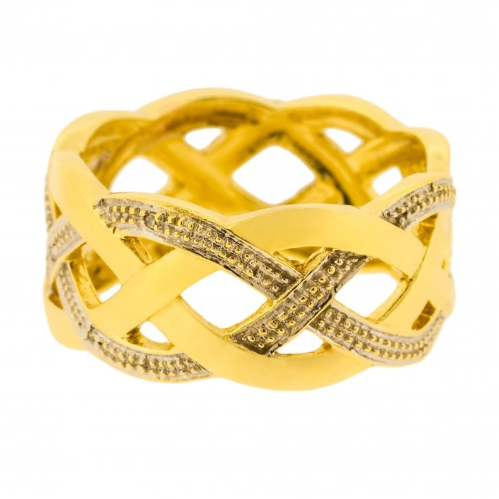 Two-tone Gold Woven Ring