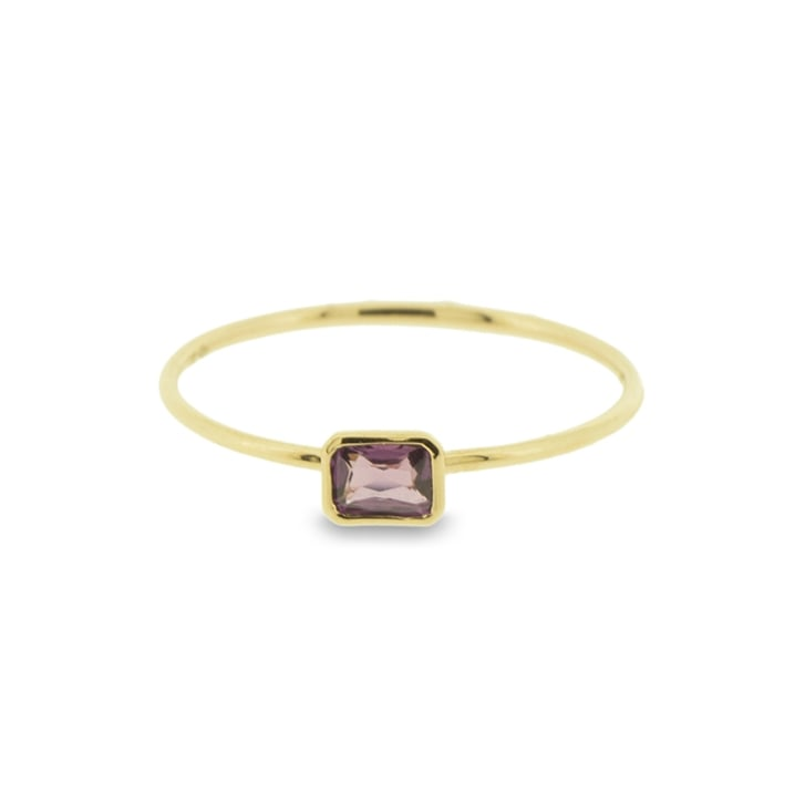 Richard Woo Very Fine Pink Sapphire Baguette Ring