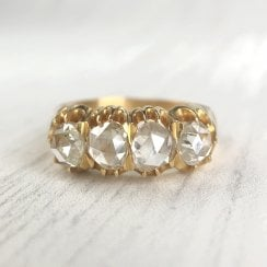 Victorian Four Rose Cut Diamond Ring