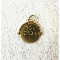 "Victorian Gold Spinning ""I Love You"" Charm"