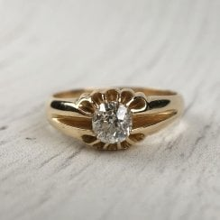 Victorian Old Cut Diamond Solitaire