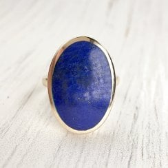 Vintage 9ct Gold and Lapis Lazuli Ring