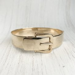 Vintage Gold Buckle Bangle in solid gold