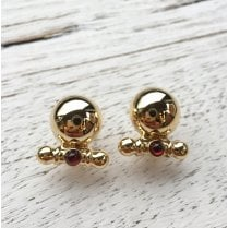 Vintage Gold Dome Earrings