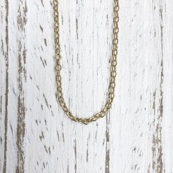 Yellow Gold Adjustable Trace Chain