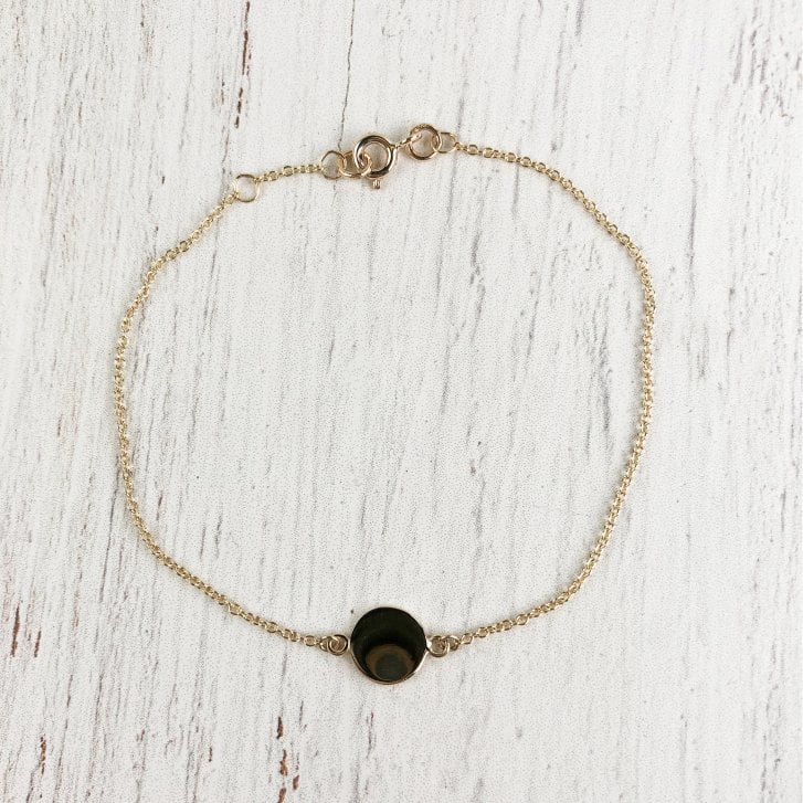 Yellow Gold Disc Bracelet
